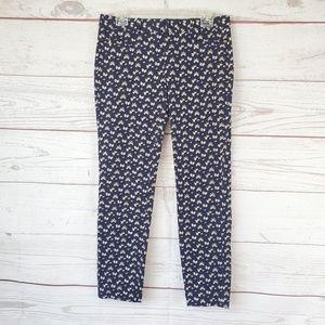 Banana Republic skinny Sloan pants daisy print